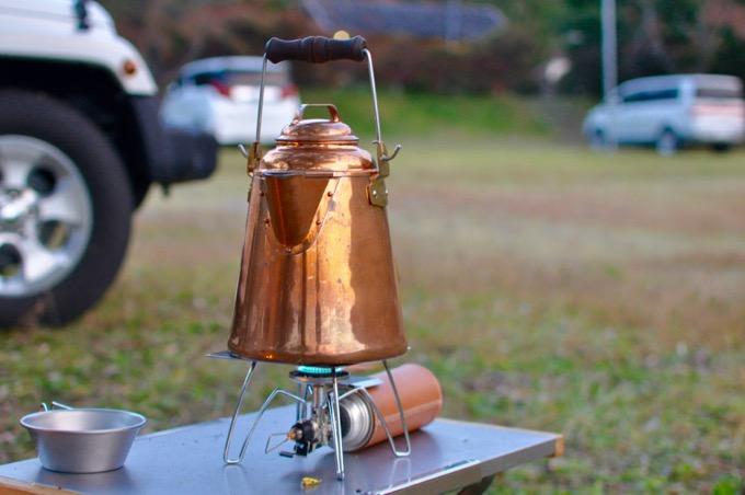 グランマーコッパーケトル(小)でお湯を沸かす