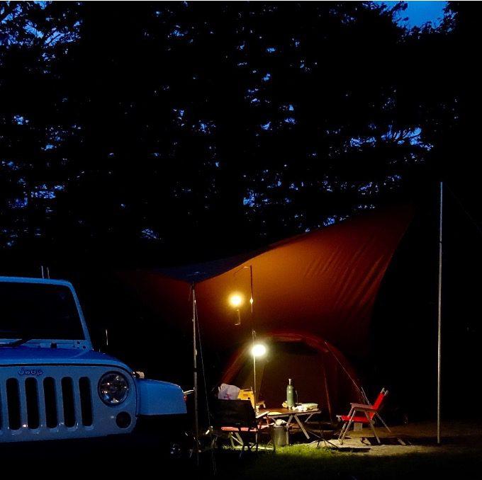 キャンプのランタン