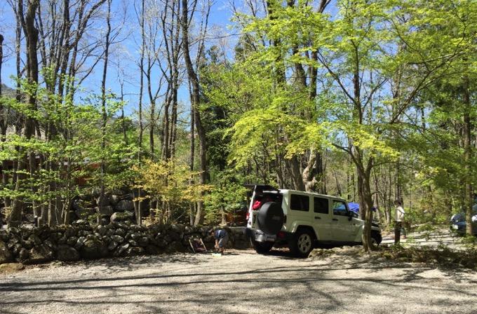 春のキャンプ場