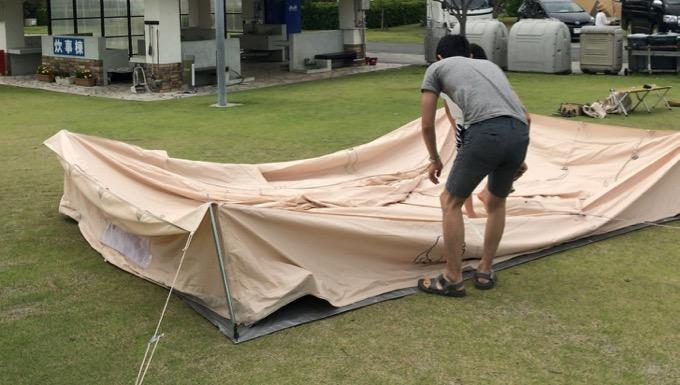テント雨撤収