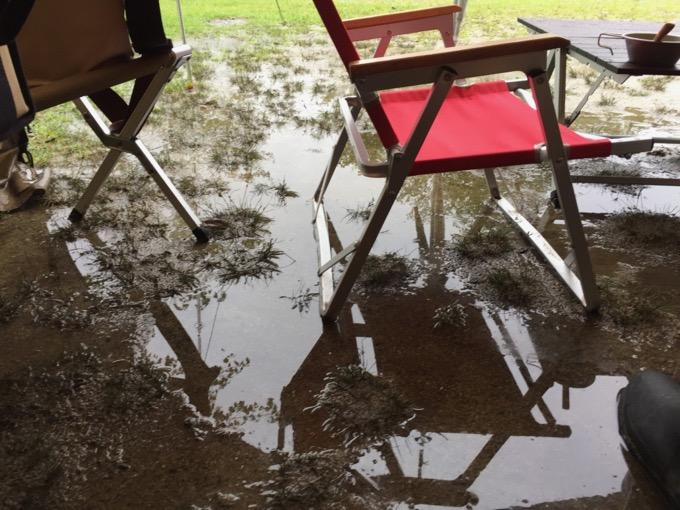 湖畔サイトは水はけが悪いです