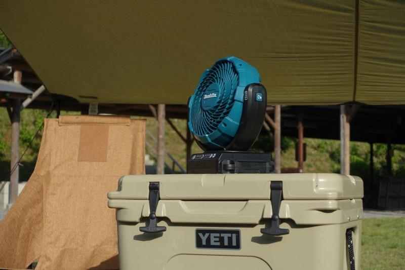 マキタ扇風機 キャンプ