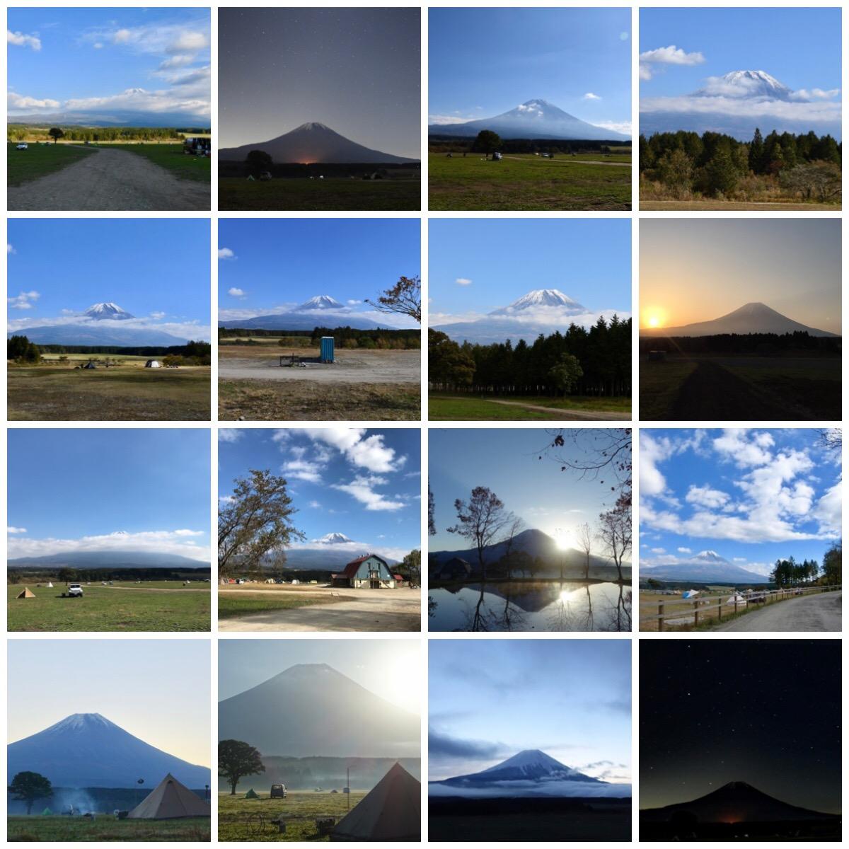 ふもとっぱらの富士山