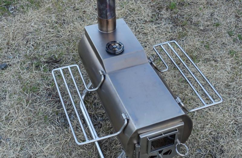 薪ストーブ用温度計設置