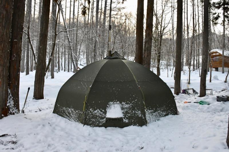 バランゲルドーム 雪中キャンプ