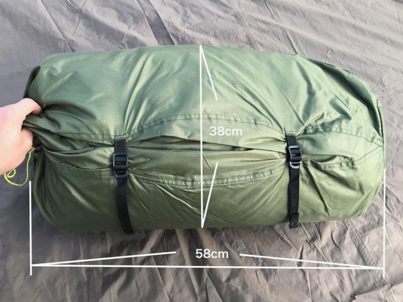 バランゲルドーム収納袋サイズ