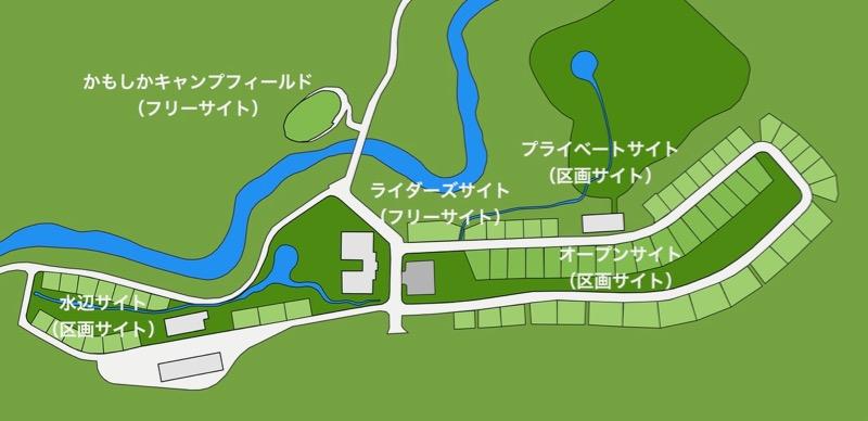 青川峡キャンピングパーク サイト地図