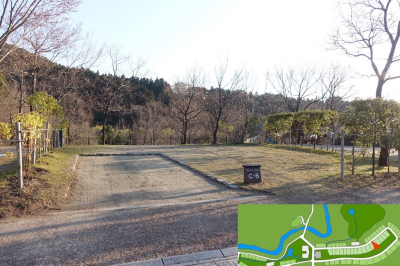 青川峡キャンピングパーク 区画サイト