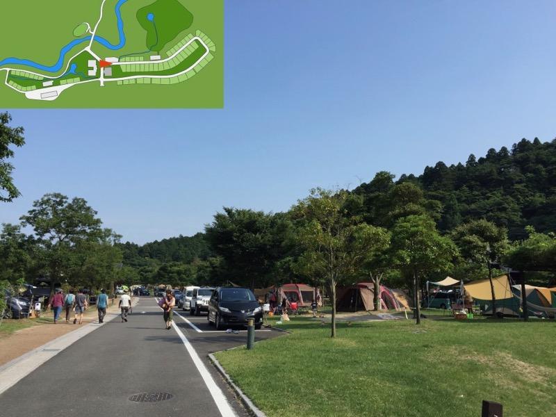 青川峡キャンピングパーク オープンサイト