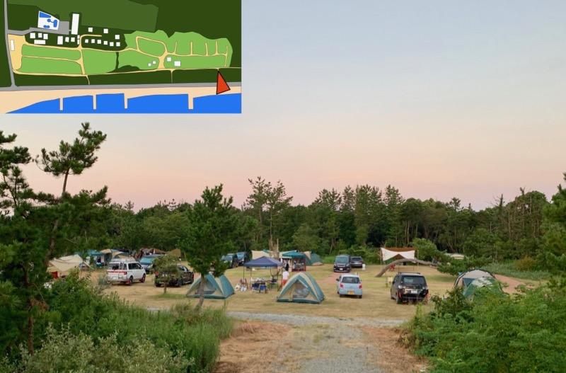 ムーンビーチキャンプ場 フリーサイト