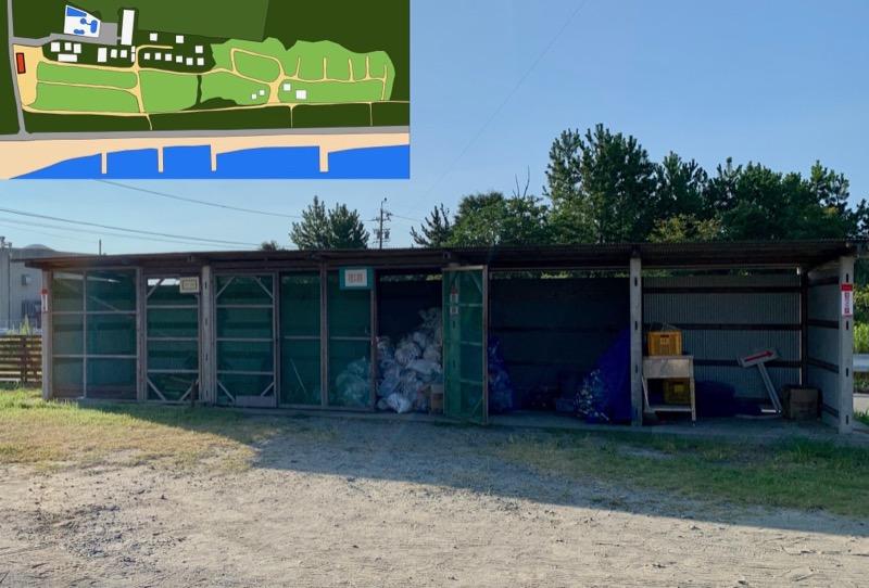 大淀西海岸ムーンビーチキャンプ場 ごみ捨て場