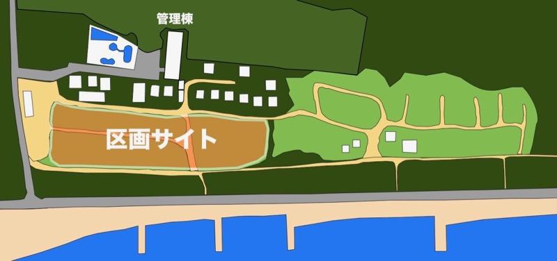 大淀西海岸ムーンビーチキャンプ場 区画サイト