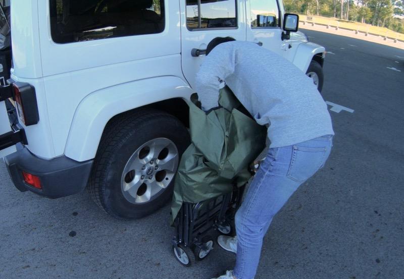 テントファクトリーキャリーワゴン収納バッグが入れにくい