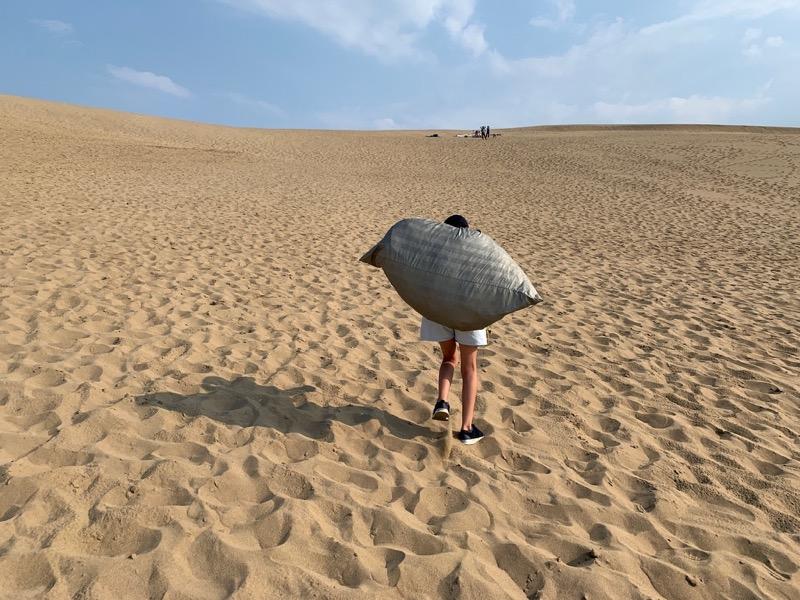 テントファクトリーキャリーワゴンを砂浜で使う