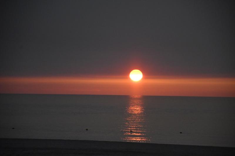 石見海浜公園の夕陽