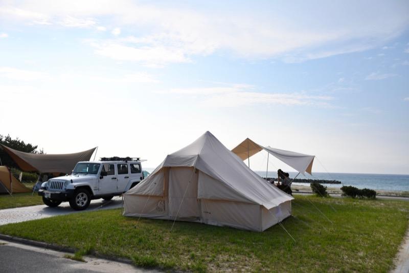 石見海浜公園オートキャンプ場 区画サイト