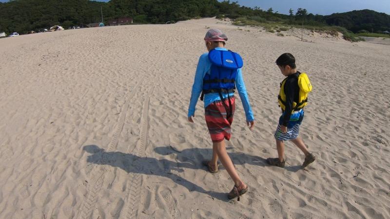 石見海浜公園 砂浜