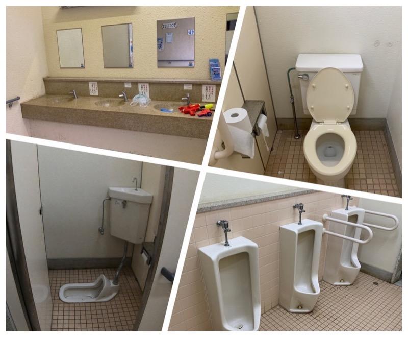 石見海浜公園キャンプ場 トイレ