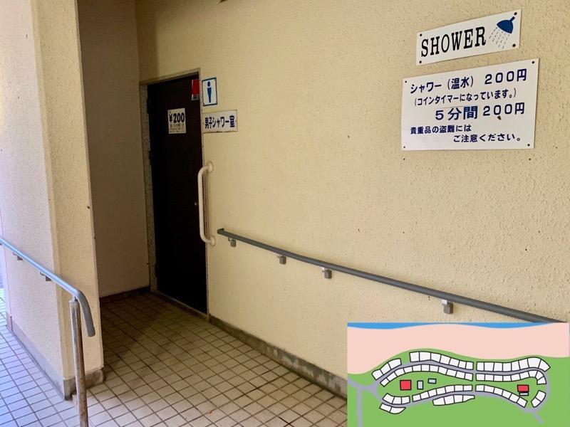 石見海浜公園キャンプ場 シャワー室