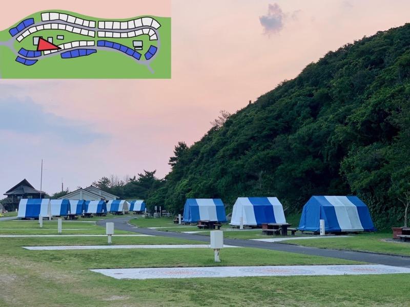 石見海浜公園キャンプ場 常設サイト