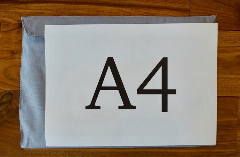 A4コピー用紙とほぼ同じサイズのピコグリル398
