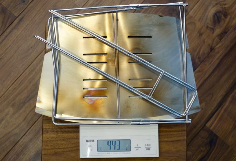 本体重量が443gのピコグリル398