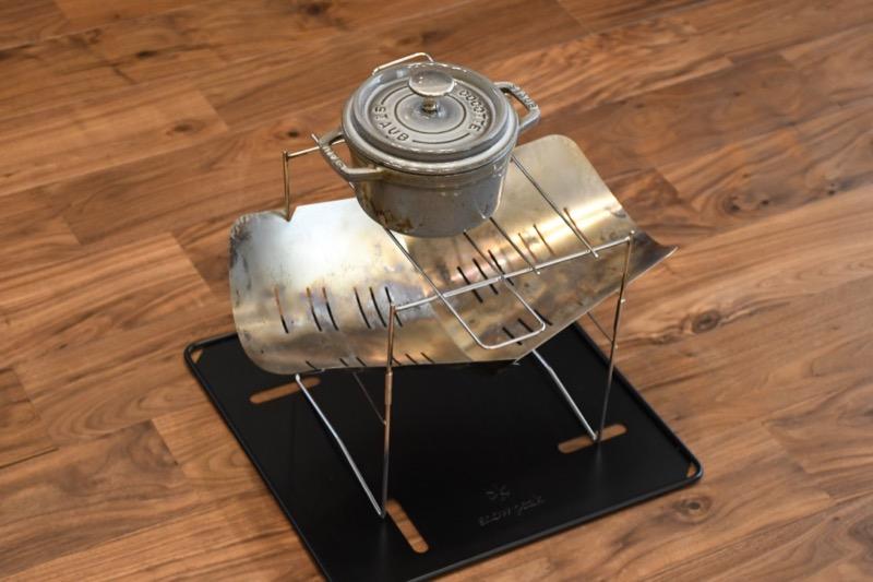 ホーロー鍋も置けるピコグリル398