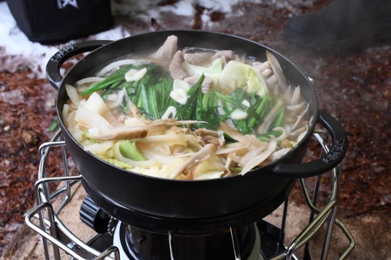 アウトドア 鍋料理
