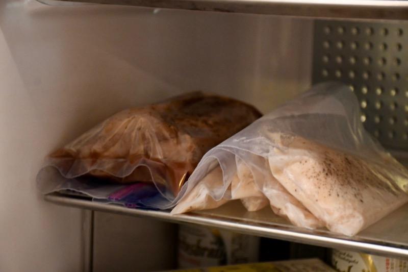 ボニーク ジップロックごと冷蔵庫で保存