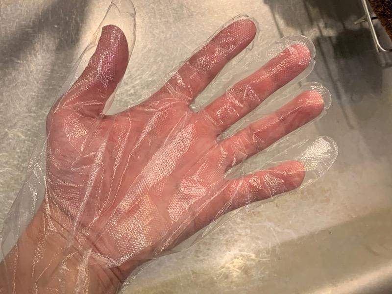 ポリエチレン使い捨て手袋