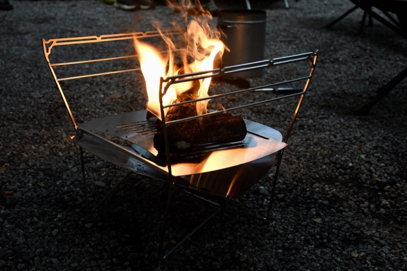 風の通りが良い焚き火台ラプカ