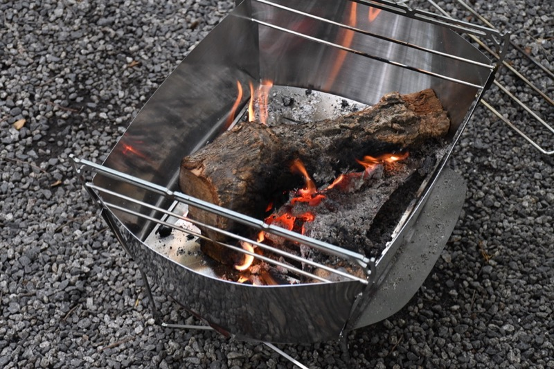 焚き火台ラプカの専用風防(ウインドスクリーン)
