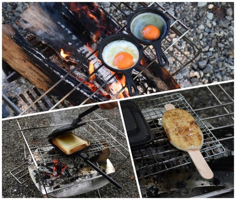 焚き火調理がいろいろできる焚き火台ラプカ
