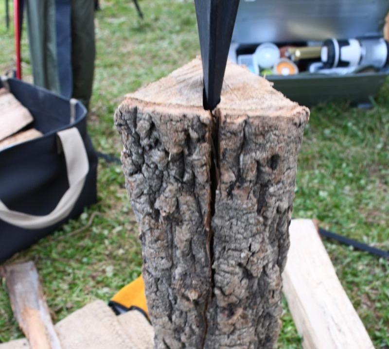 広葉樹 薪割り