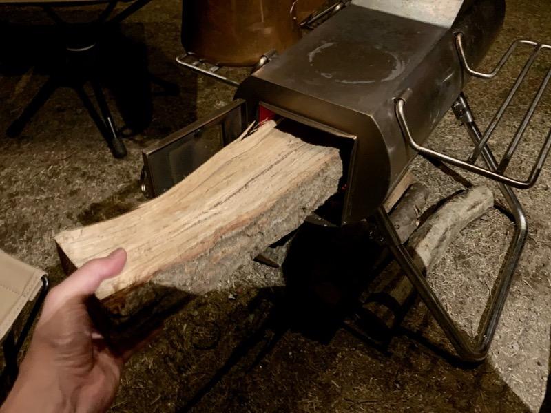 薪ストーブに入らない薪