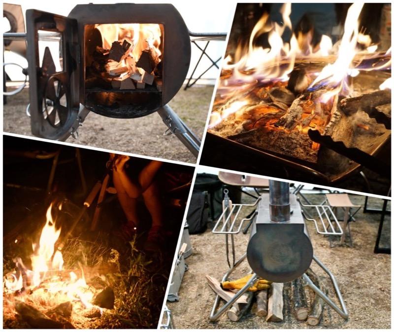 キャンプで焚き付け