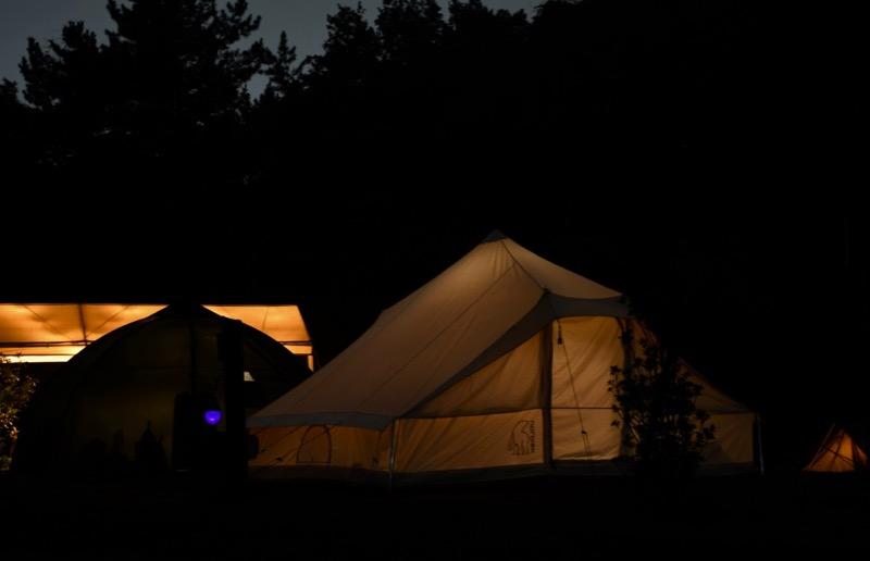 真っ暗なキャンプ場