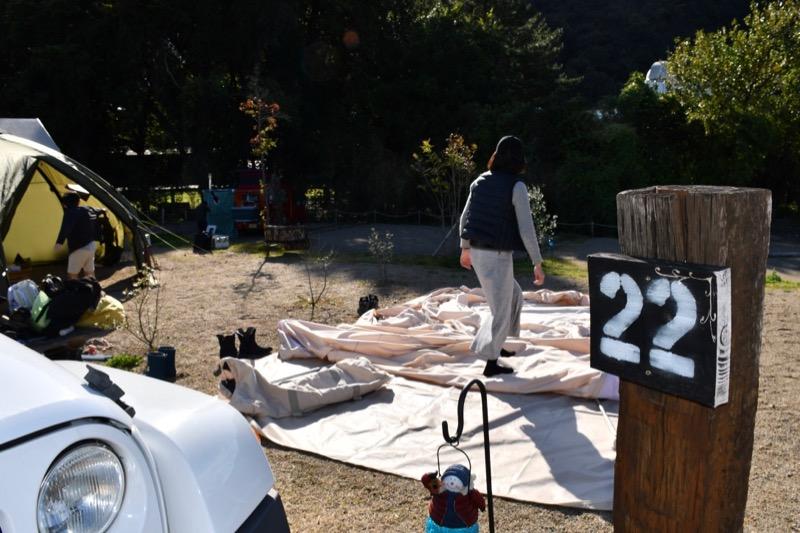 テント設営位置
