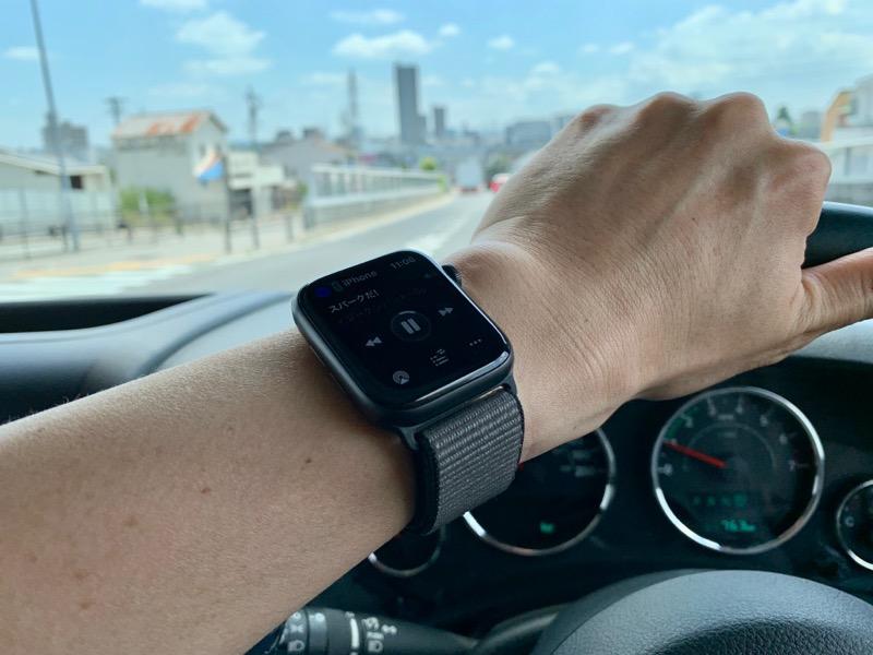 運転中にApple Watchで音量調整