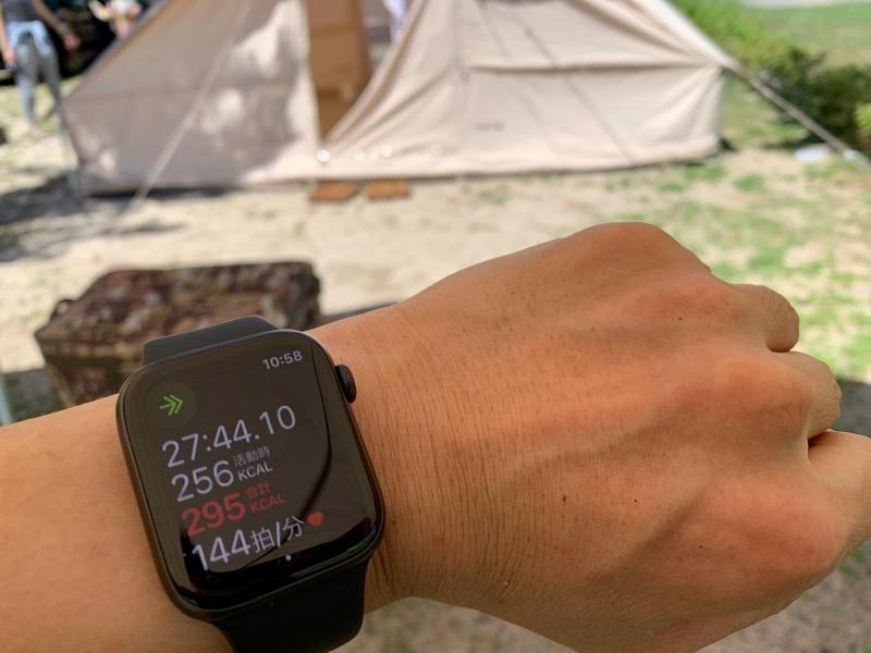 キャンプでワークアウト