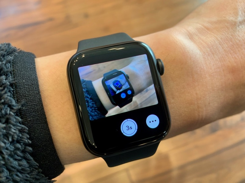 Apple Watch カメラのリモコン