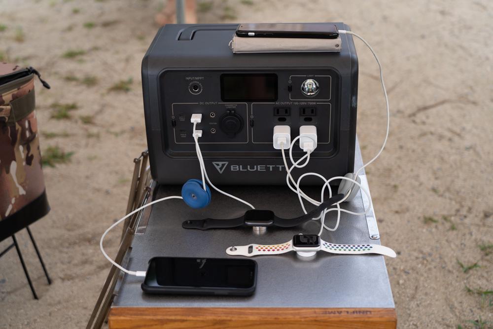 BLUETTI(ブルーティ) EB70でたくさん充電する。
