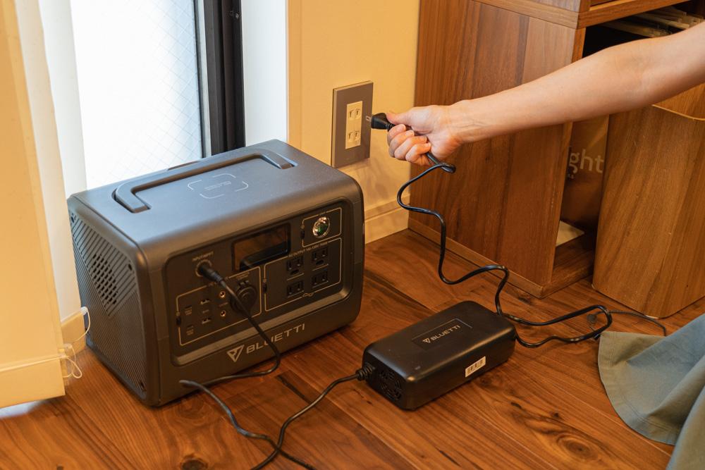 ポータブル電源 BLUETTI(ブルーティ) EB70の充電